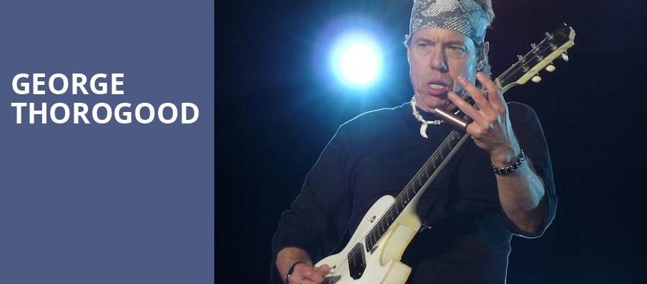 George Thorogood, Burton Cummings Theatre, Winnipeg